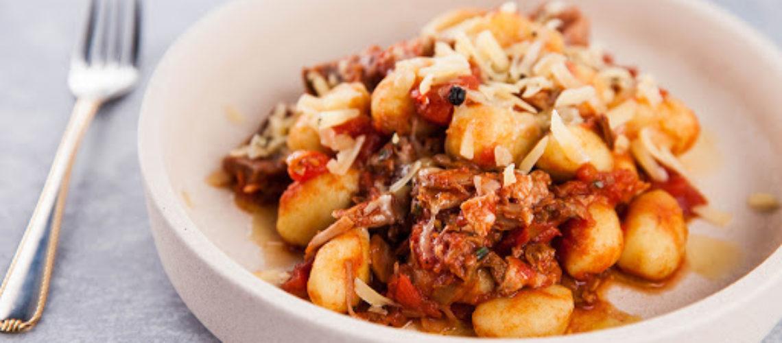 Gnocchi with Duck Ragù, Porcini Mushrooms & Parmesan